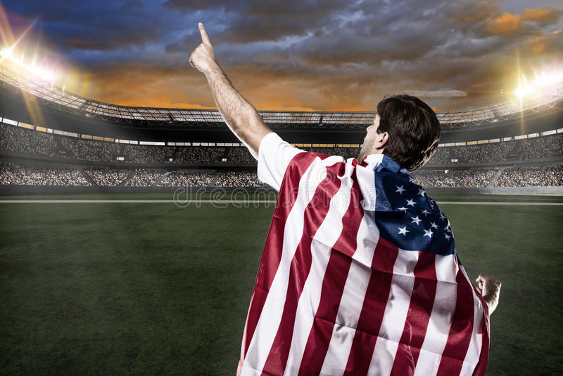 Amerikanischer Fußballspieler stockbild