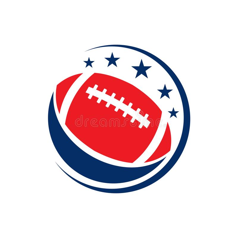 Amerikanischer Fußball-Rugby-Liga-Sport Logo Icon Template vektor abbildung