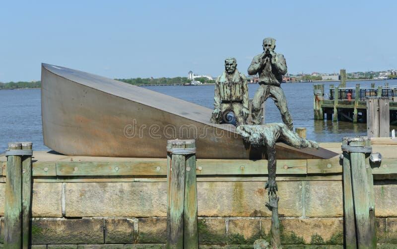 Amerikanischer Kaufmann Marines Memorial in New York City stockbilder