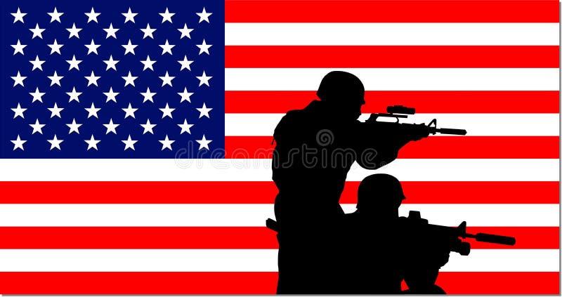 Amerikanischer Militärhintergrund vektor abbildung