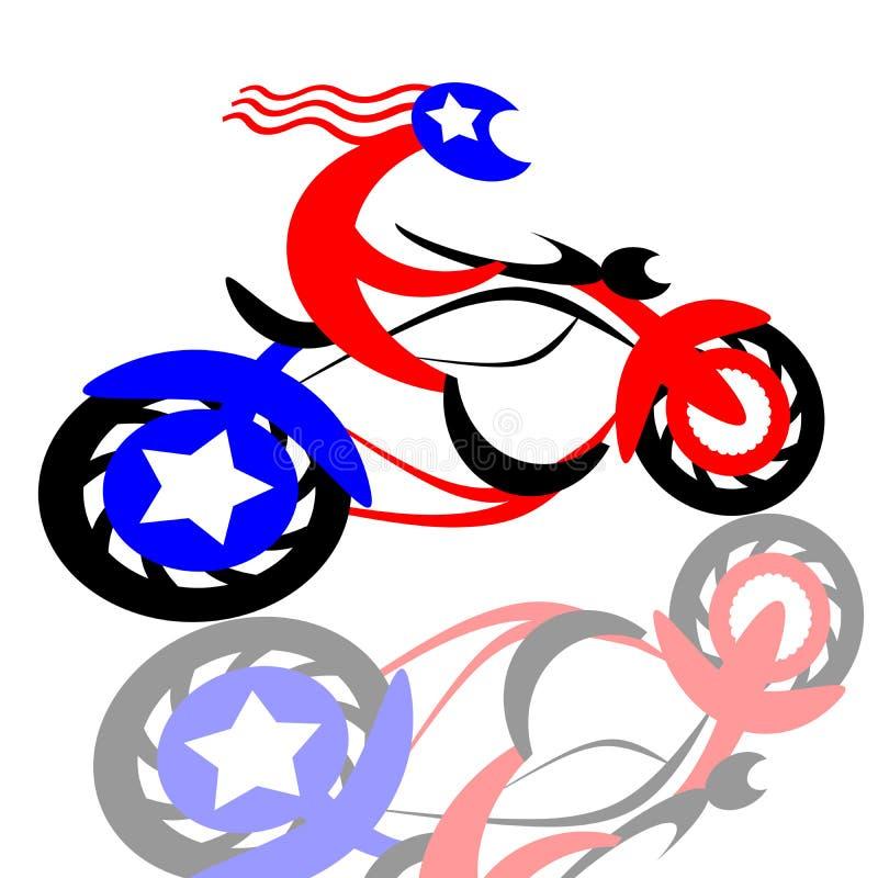 Amerikanischer Radfahrer vektor abbildung