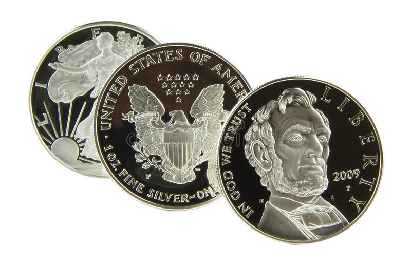 Amerikanischer silberner Dollar stockbilder