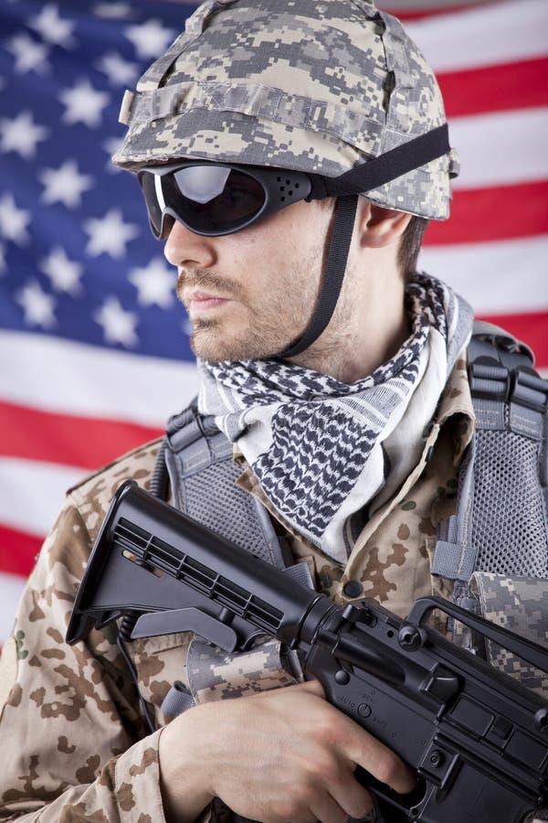 Amerikanischer Soldat lizenzfreies stockfoto