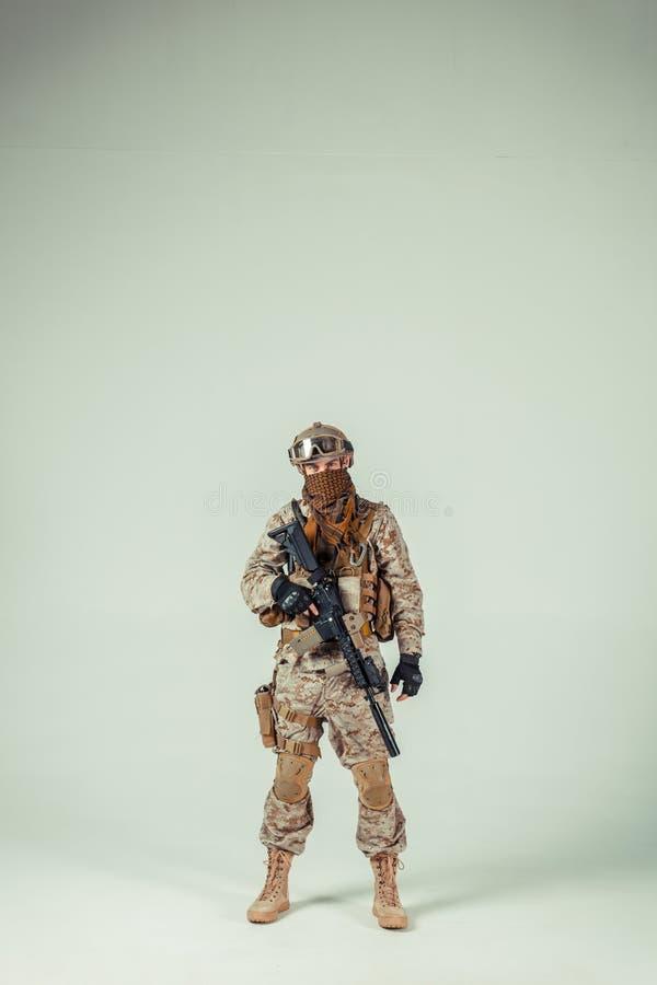 Amerikanischer Soldat der besonderen Kräfte stockbilder