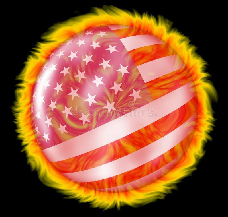 Amerikanischer Sun vektor abbildung