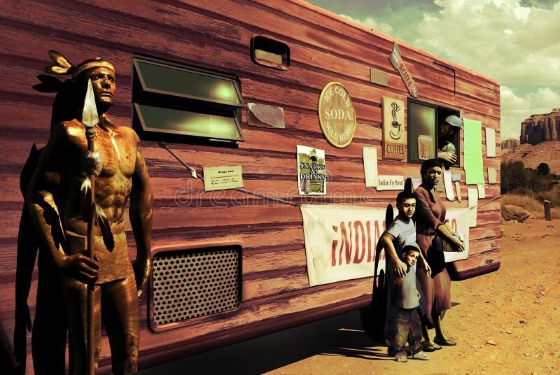 Amerikanischer Ureinwohner heute lizenzfreie abbildung