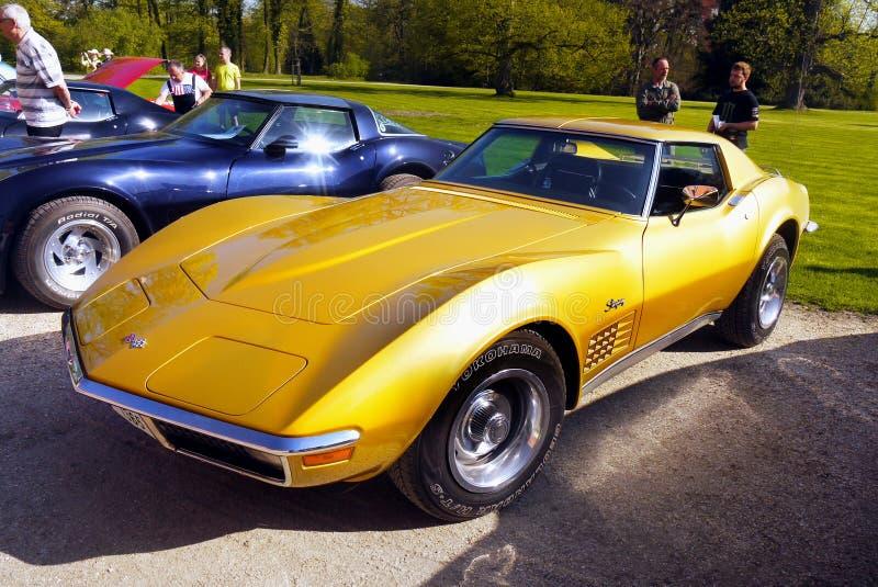 Amerikanischer Weinlese-Oldtimer, Chevrolet Corvette lizenzfreies stockfoto