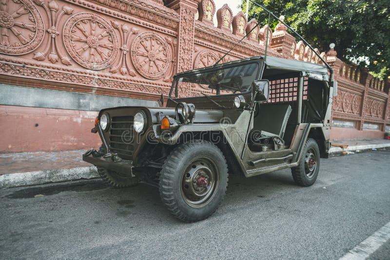 Amerikanischer Weinleseauto Willys-Jeep lizenzfreie stockfotos