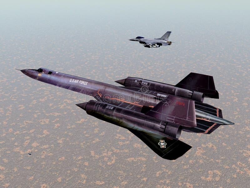 Amerikanisches Aufklärungsflugzeug lizenzfreie abbildung