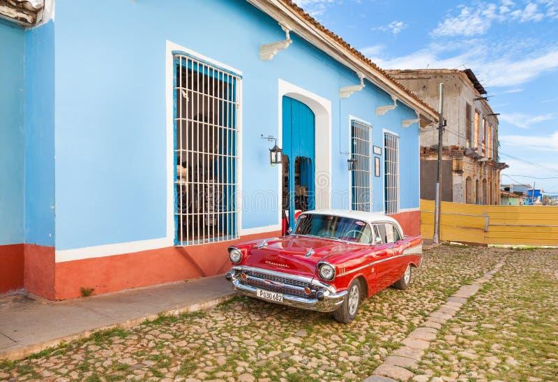 Amerikanisches Auto der Weinlese an Trinidad-Stadt stockfotografie