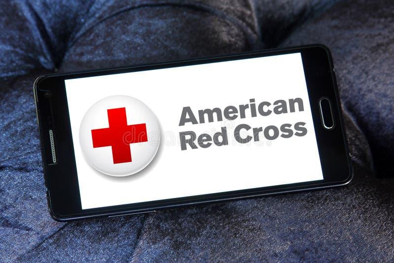Amerikanisches BOGEN-Logo des roten Kreuzes lizenzfreie stockfotografie