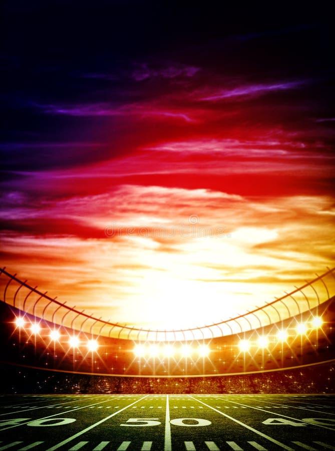 Amerikanisches Fußballstadion stockfoto