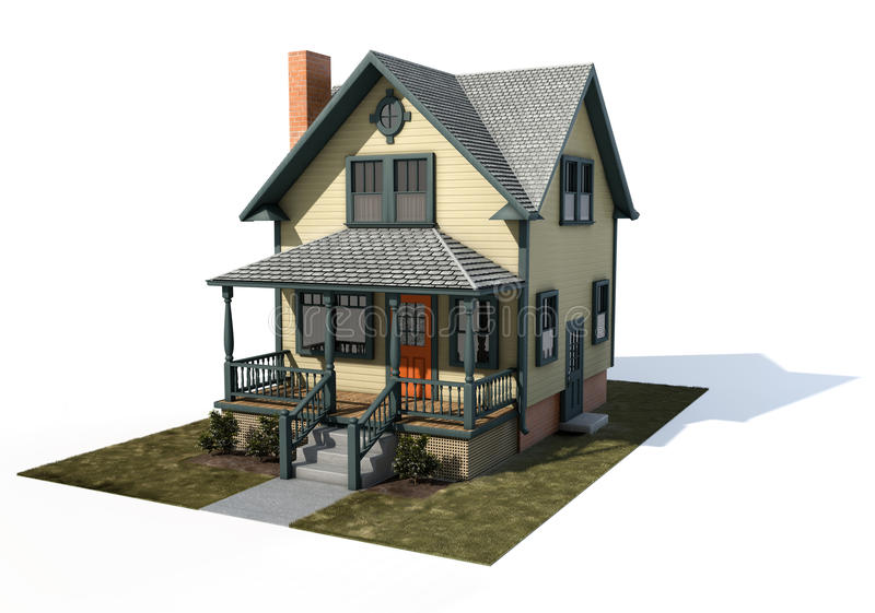 amerikanisches haus stock abbildung illustration von haus 9420164. Black Bedroom Furniture Sets. Home Design Ideas