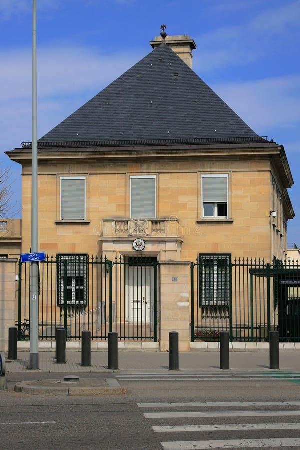 Amerikanisches Konsulat lizenzfreies stockbild