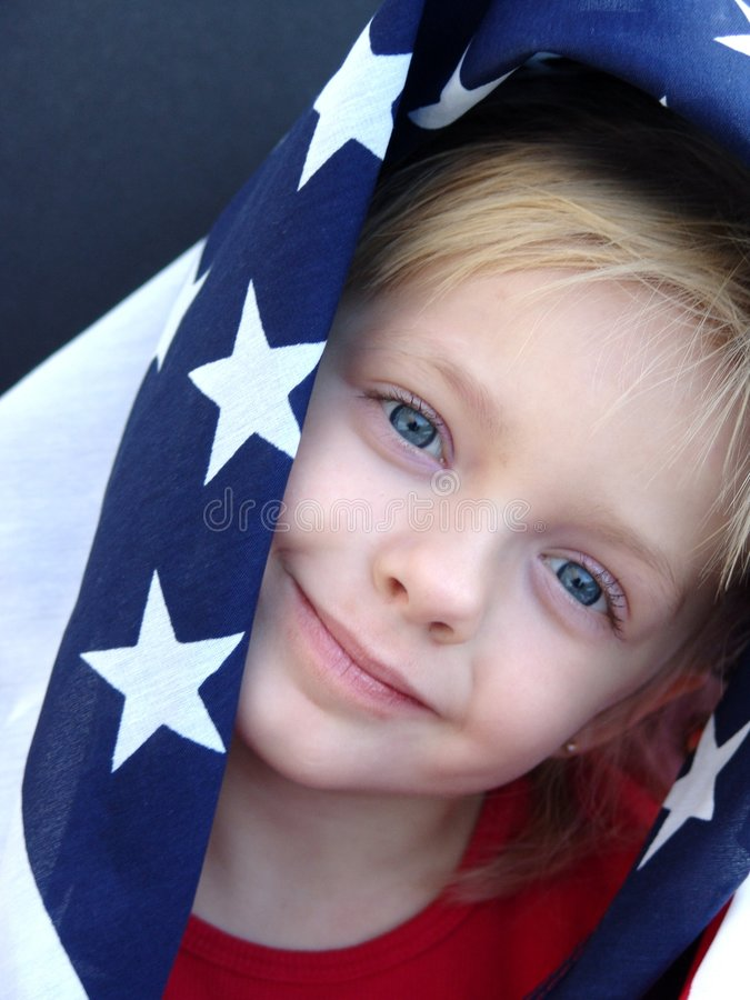 Amerikanisches Mädchen stockbild