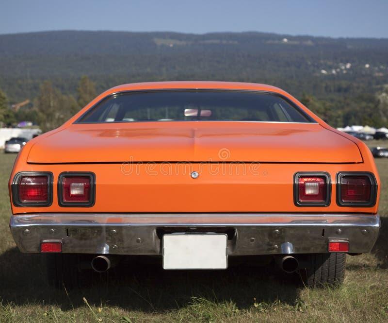Amerikanisches Muskel-Auto-hintere Ansicht stockbilder