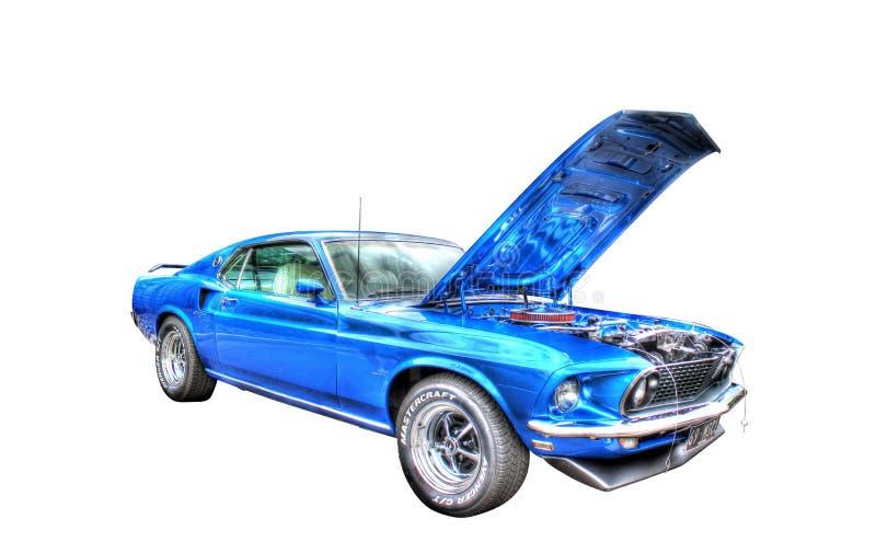 Amerikanisches Muskelauto lokalisiert auf weißem Hintergrund lizenzfreies stockbild