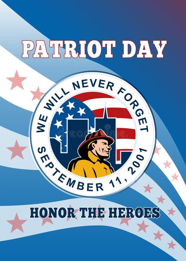 Amerikanisches Patriot-Tagesplakat lizenzfreie abbildung