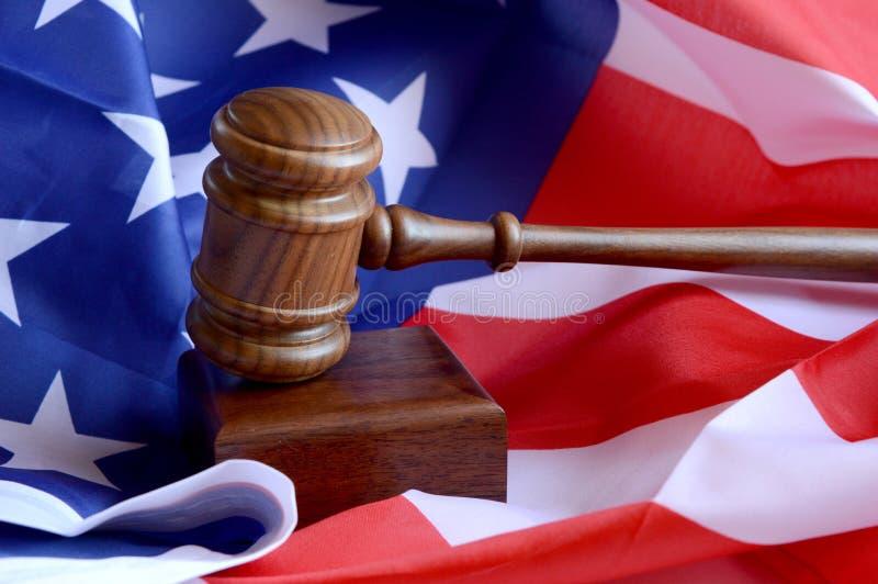 Amerikanisches Recht und Ordnung lizenzfreie stockfotografie