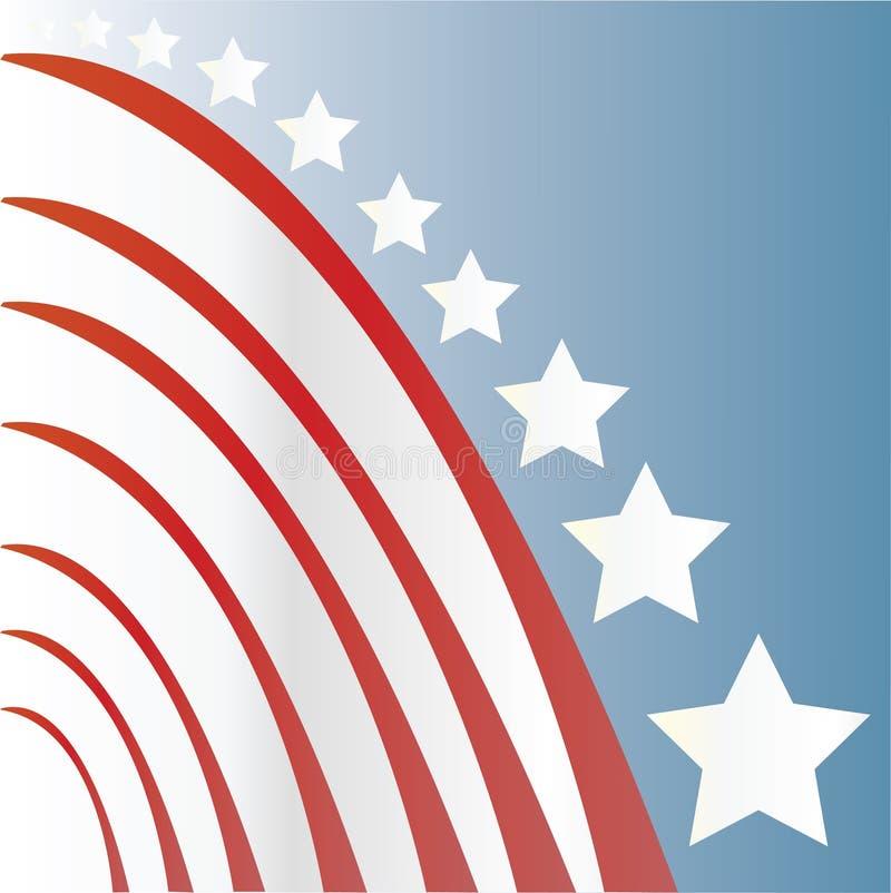 Amerikanisches Sternenbanner vektor abbildung