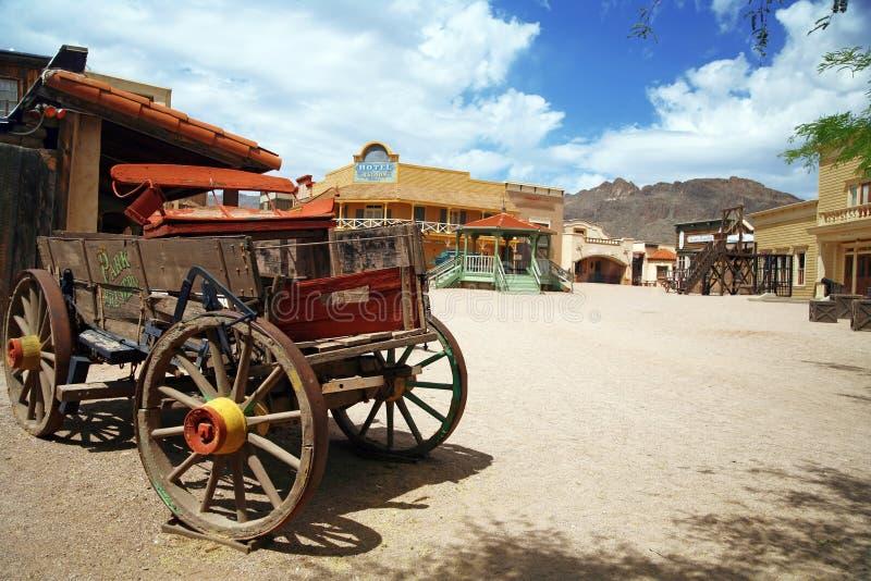 amerikansk antik vagn royaltyfria bilder