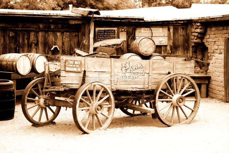 amerikansk antik vagn royaltyfri bild