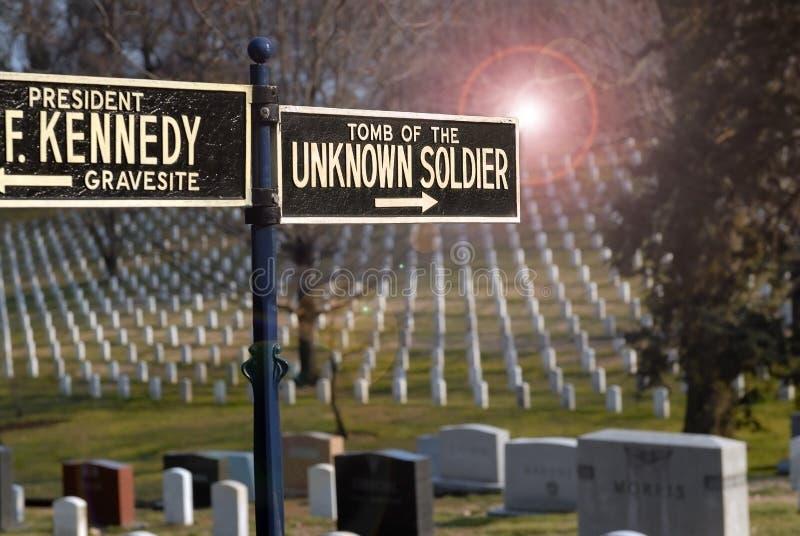 amerikansk arlington kyrkogårdsoldat royaltyfri fotografi