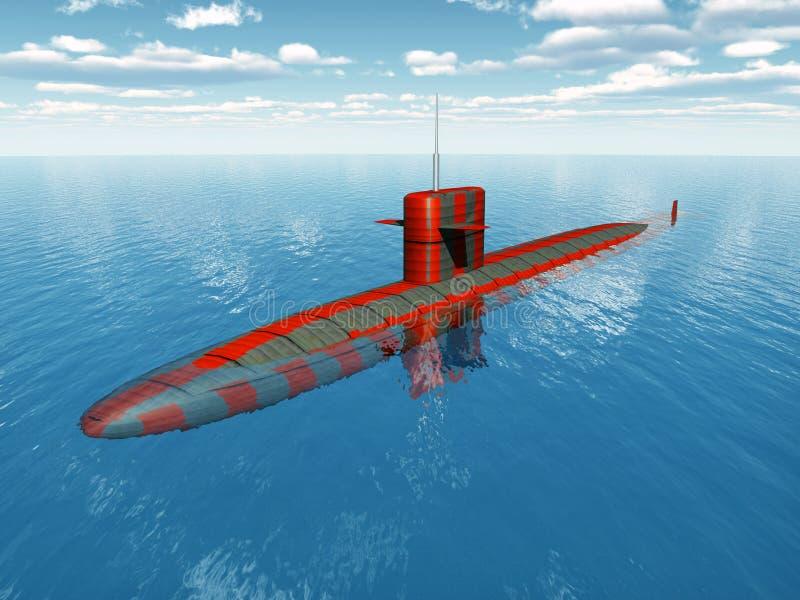 Amerikansk atomubåt stock illustrationer