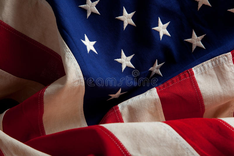 amerikansk bakgrundsflagga arkivbild