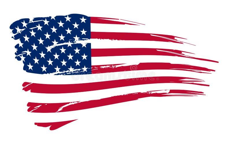 amerikansk bakgrundsflagga royaltyfri illustrationer
