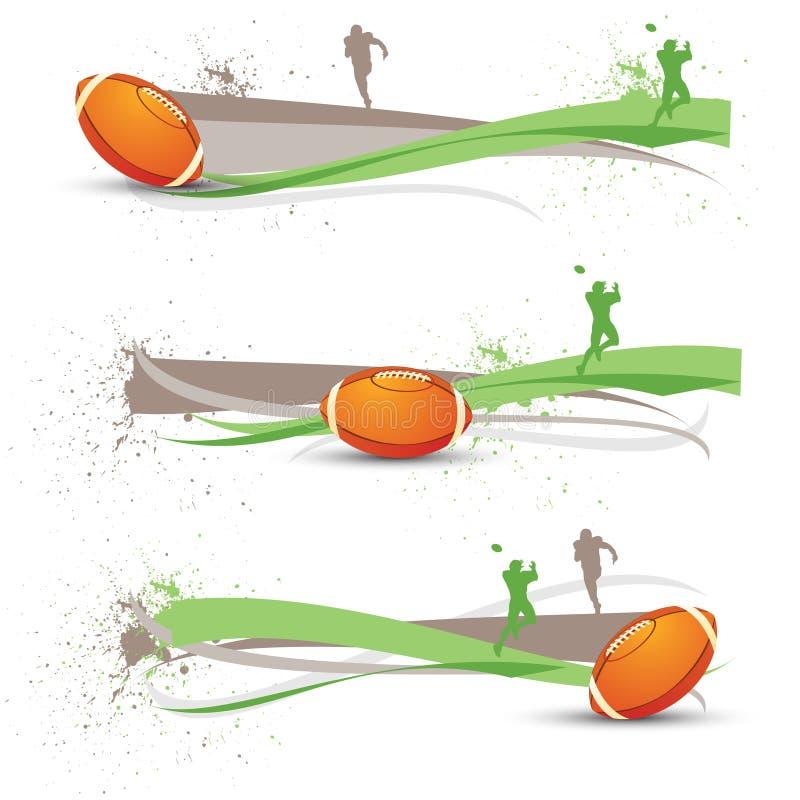 amerikansk banerfotboll stock illustrationer