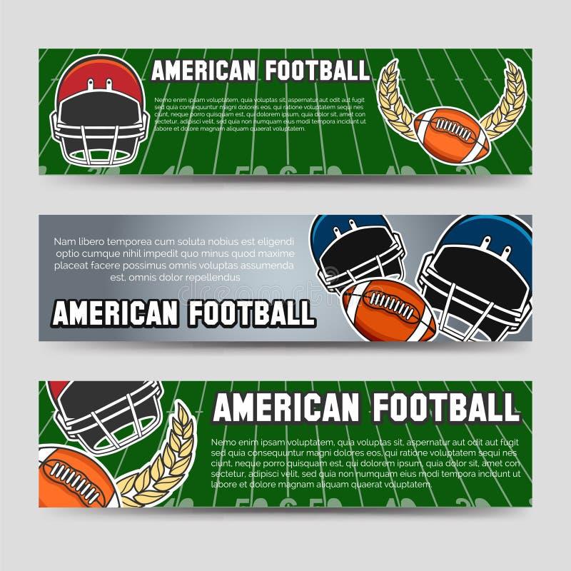 amerikansk banerfotboll royaltyfri illustrationer