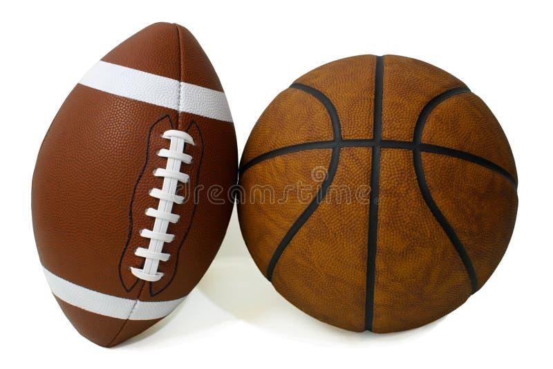 amerikansk basketfotboll arkivfoto