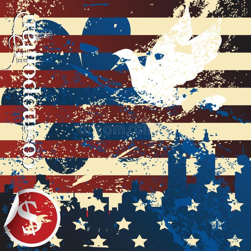 amerikansk begreppsgrunge royaltyfri illustrationer