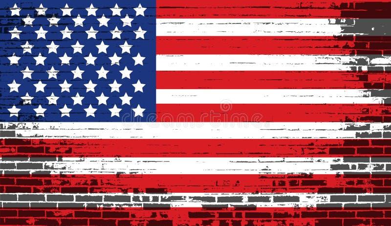 amerikansk bekymrad flagganational royaltyfri illustrationer