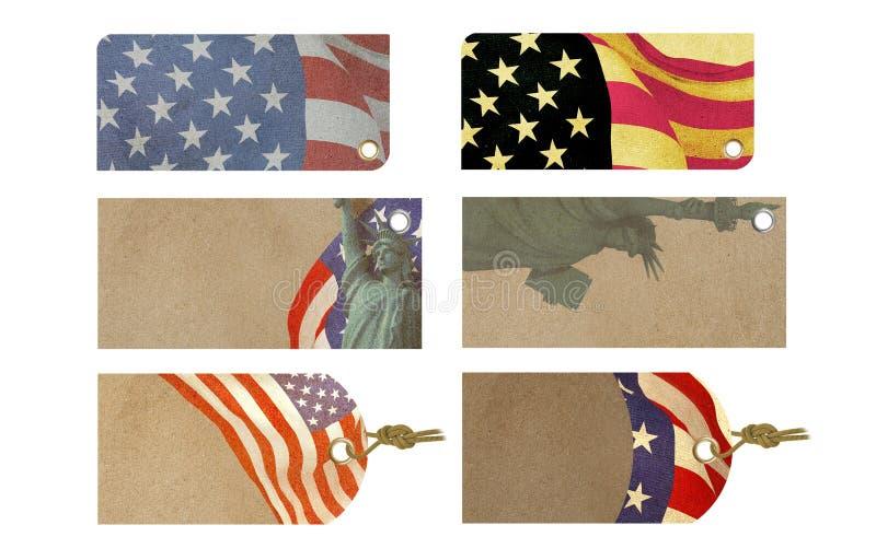 Amerikansk berömSale etikett arkivbild