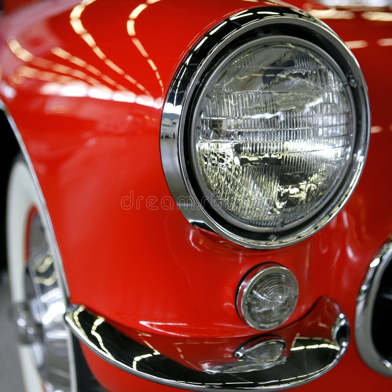 amerikansk bilmuskelred arkivbild