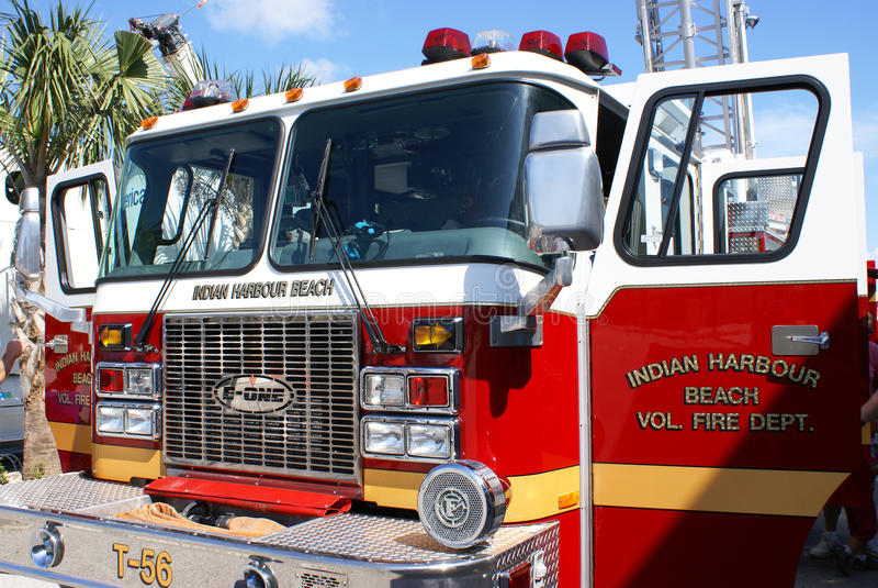 amerikansk brandlastbil royaltyfri foto