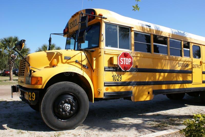 amerikansk bussskola arkivbild