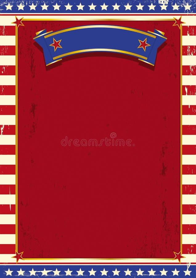 amerikansk cirkus vektor illustrationer