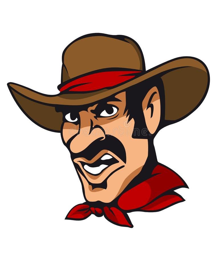 amerikansk cowboy royaltyfri illustrationer