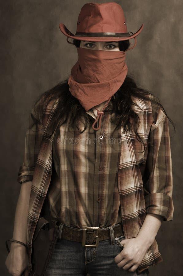 amerikansk cowgirl arkivbild