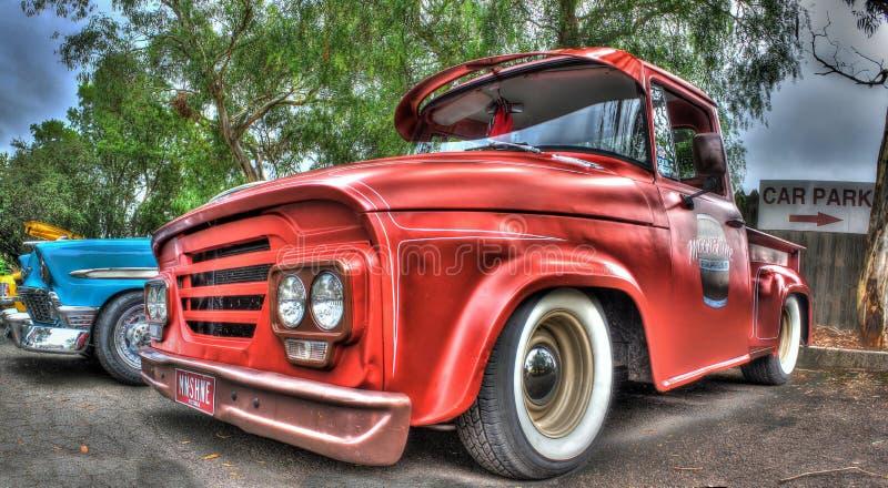 Amerikansk Dodge för klassisk 60-tal pickup royaltyfri fotografi