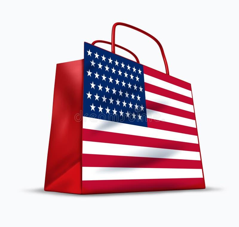 amerikansk förtroendekonsument vektor illustrationer
