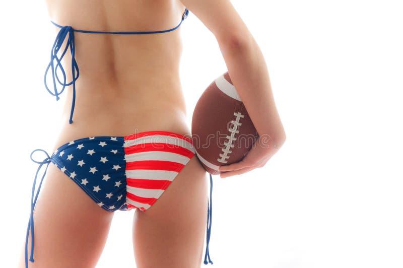 amerikansk fotboll royaltyfria bilder