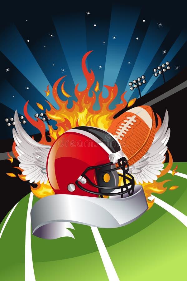 Amerikansk fotboll vektor illustrationer