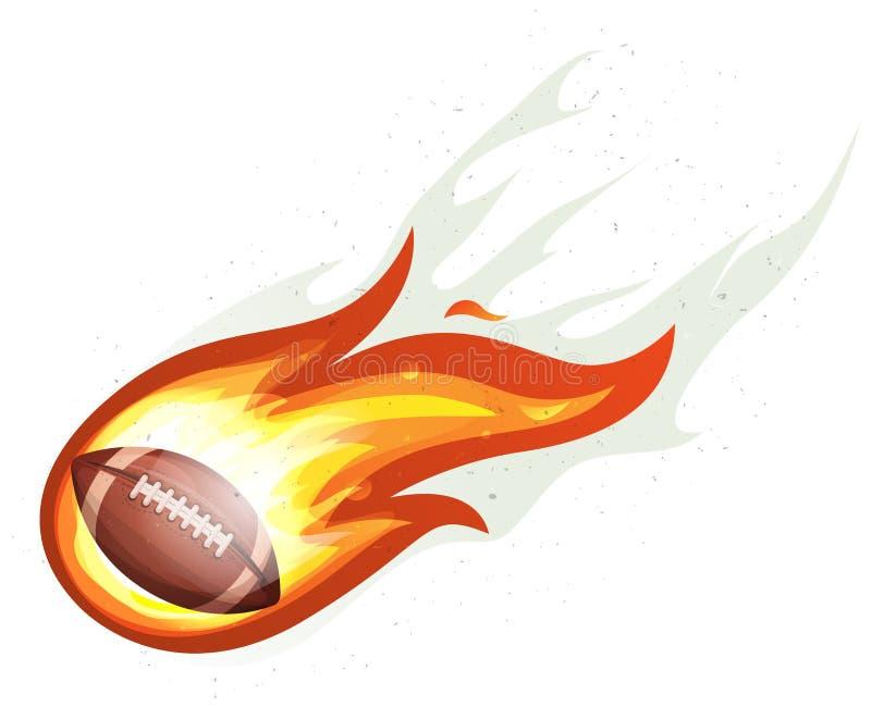 Amerikansk fotboll Rocket Ball Burning vektor illustrationer