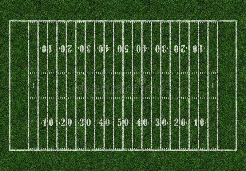 amerikansk fotboll Rugbyfältgräsplan stock illustrationer
