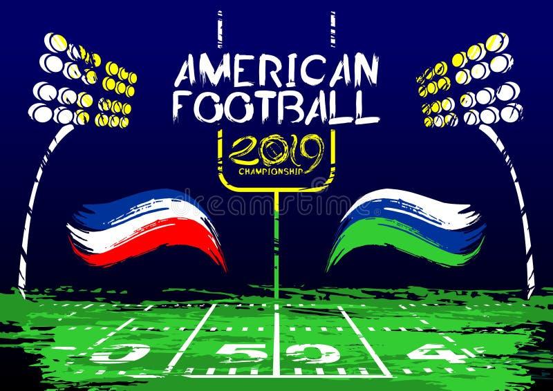 amerikansk fotboll Sportslig illustration för vektor vektor illustrationer