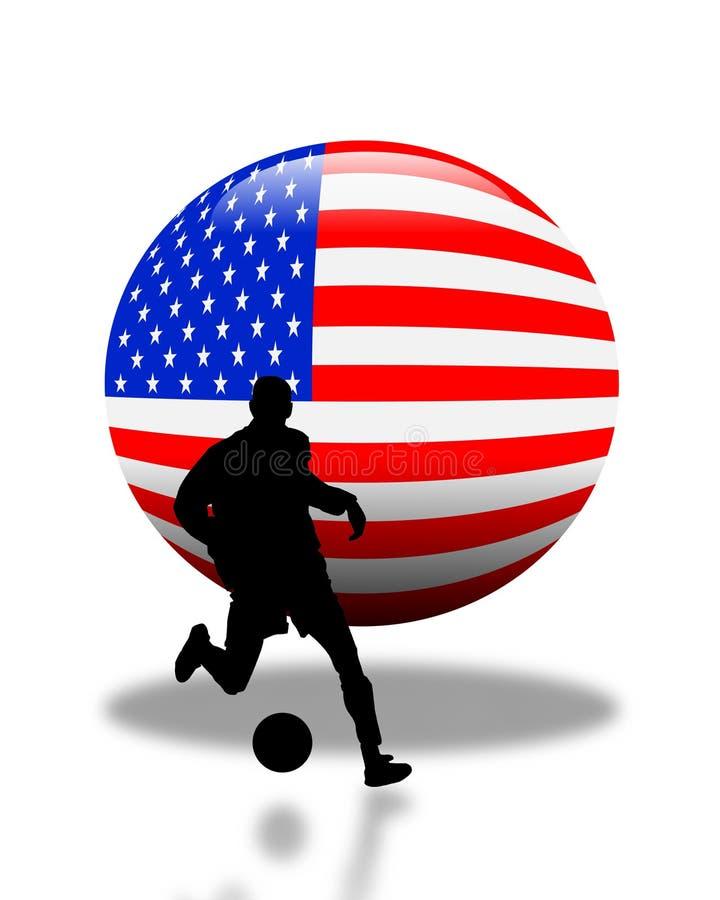 amerikansk fotbolllogofotboll vektor illustrationer